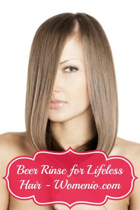 Beer Rinse for Lifeless Hair.