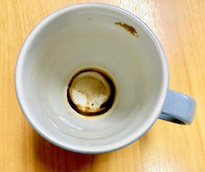 coffee stained mug