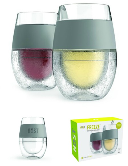 1. Freeze Cooling Wine Glasses