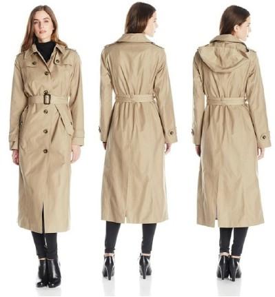 London Fog Women's Long Single-Breasted Trench Coat