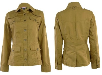 Tommy Hilfiger Women's Woven Cotton Military Jacket