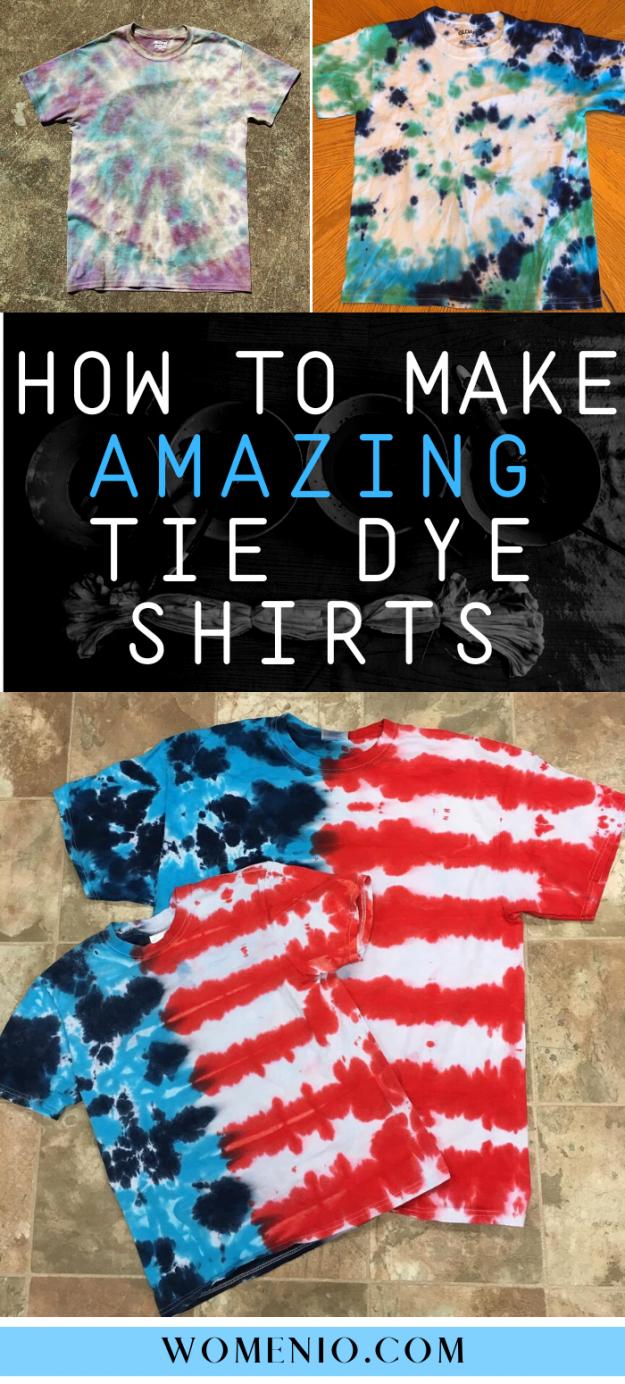 DIY tie dye shirt guide