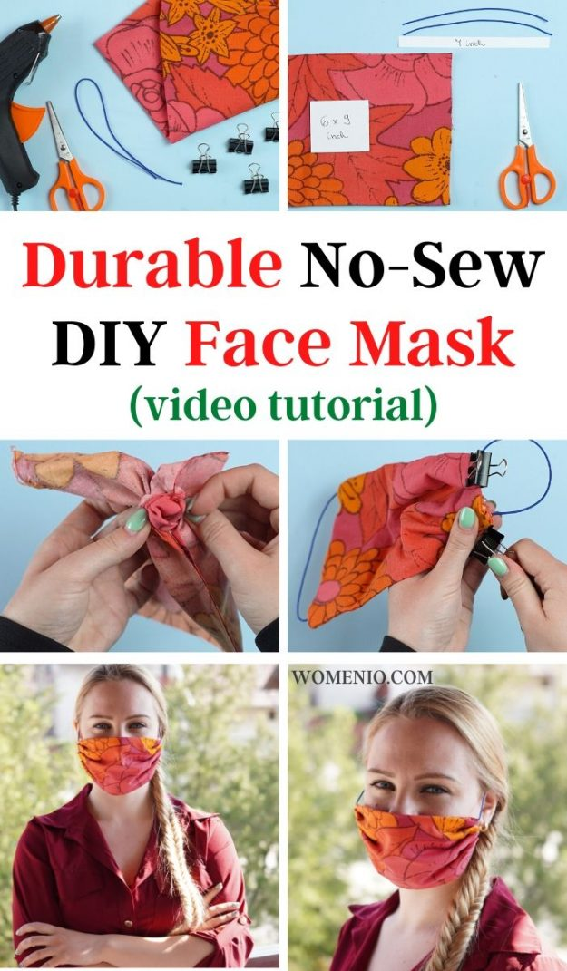 Durable No-Sew DIY Face Mask (2)