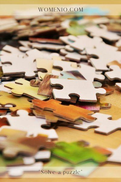solve a puzzle