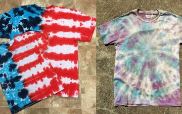 2 types of dyed t-shirts