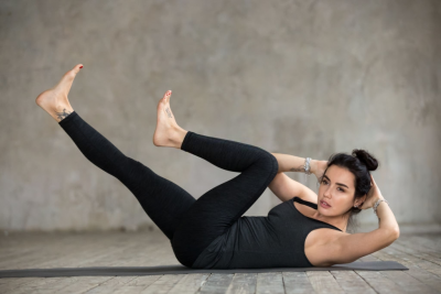 waist training exercise - pilates