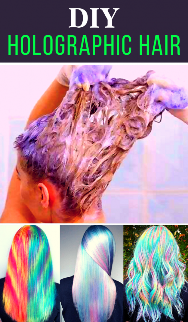 DIY HOLOGRAPHIC HAIR