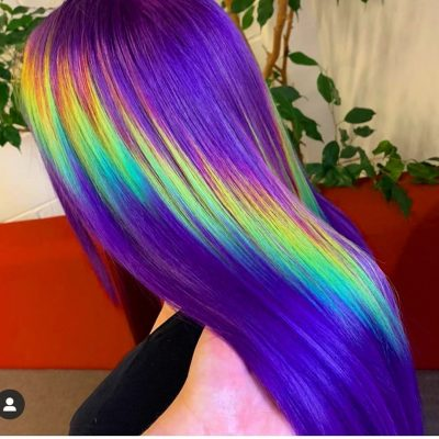 holographic hair from from the side