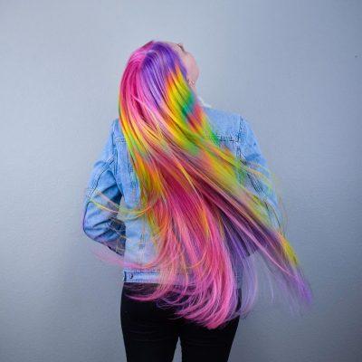 iridescent hair waves