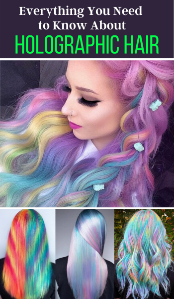 holographic hair trend and colors