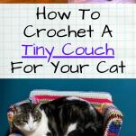 tiny crocheted cat sofa