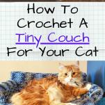 tiny crocheted kitty sofa