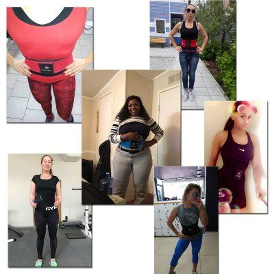 different women wearing waist trainer