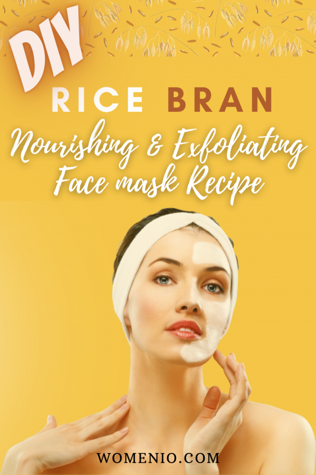 DIY rice bran face mask 10