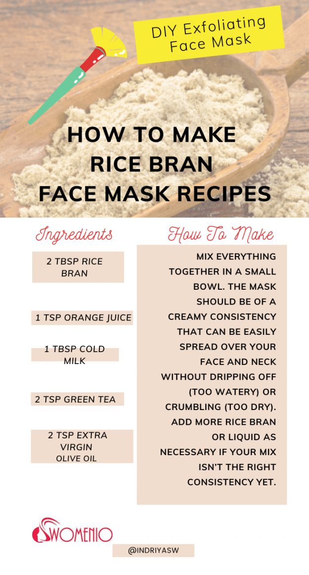 DIY rice bran face mask 12