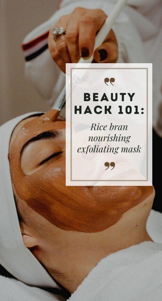 DIY rice bran face mask 14