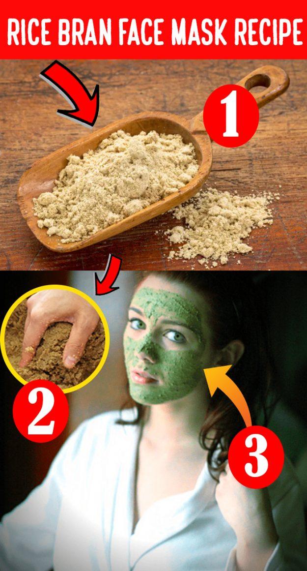 DIY rice bran face mask 16