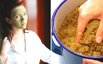 DIY rice bran face mask