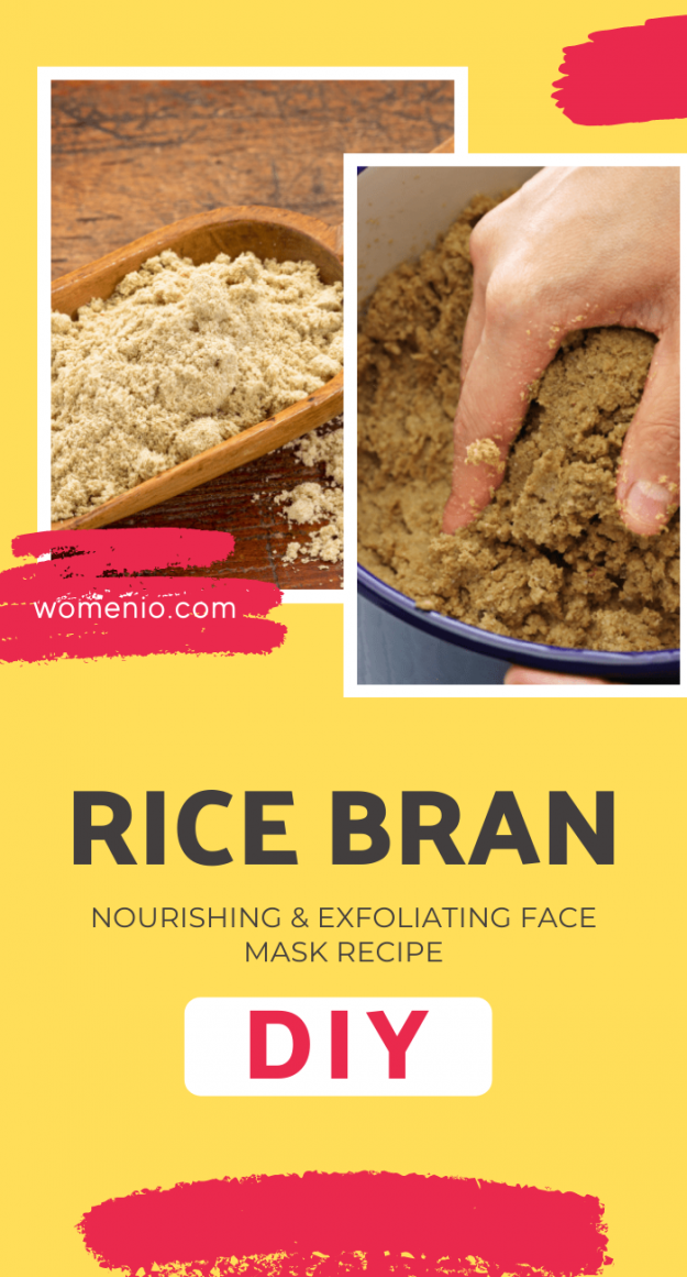 DIY rice bran face mask 4