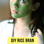 DIY rice bran face mask 5