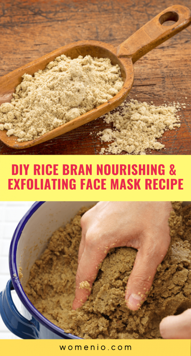 DIY rice bran face mask 7