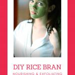 DIY rice bran face mask 8