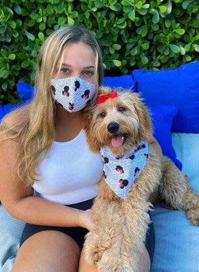 Dog Bandana and Matching Owner Face Mask
