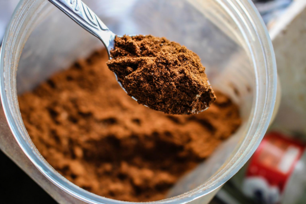 A scoop of protein Powder