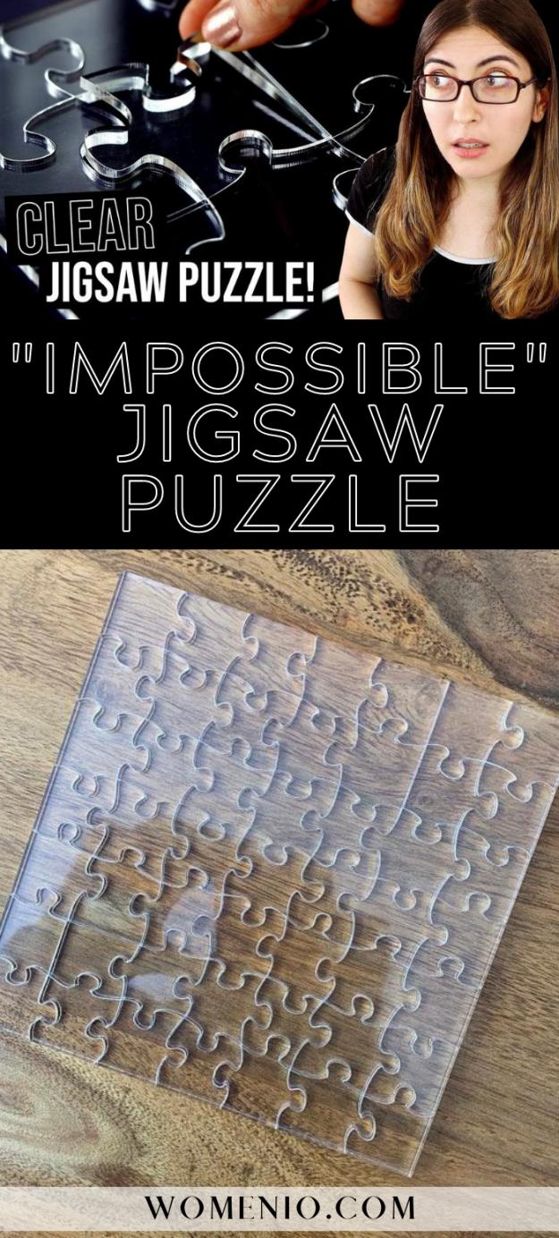 transparent jigsaw puzzle pin