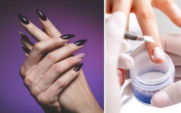 acrylic nails hurting
