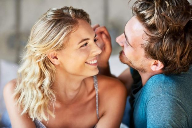 man thinks of a woman lovingly