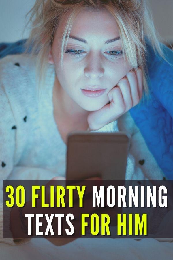 girl is sending flirty text to her boyfriend