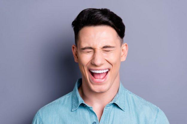 ex boyfriend is pretending to be happy